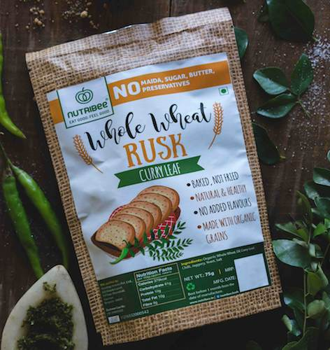 Wheat Rusk - Curry Leaf-100 Grm